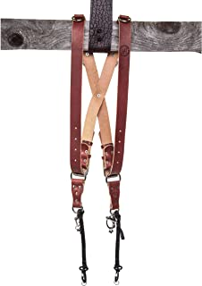 product image for HoldFast Gear MoneyMaker Two-Camera Harness, Bridle Leather, Medium, Chestnut