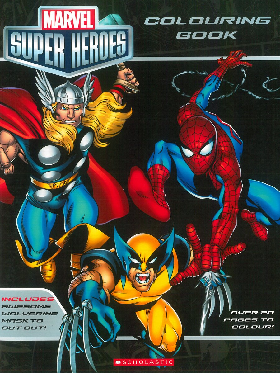 - Marvel Super Heroes Colouring Book: Various: 9789351033110: Amazon