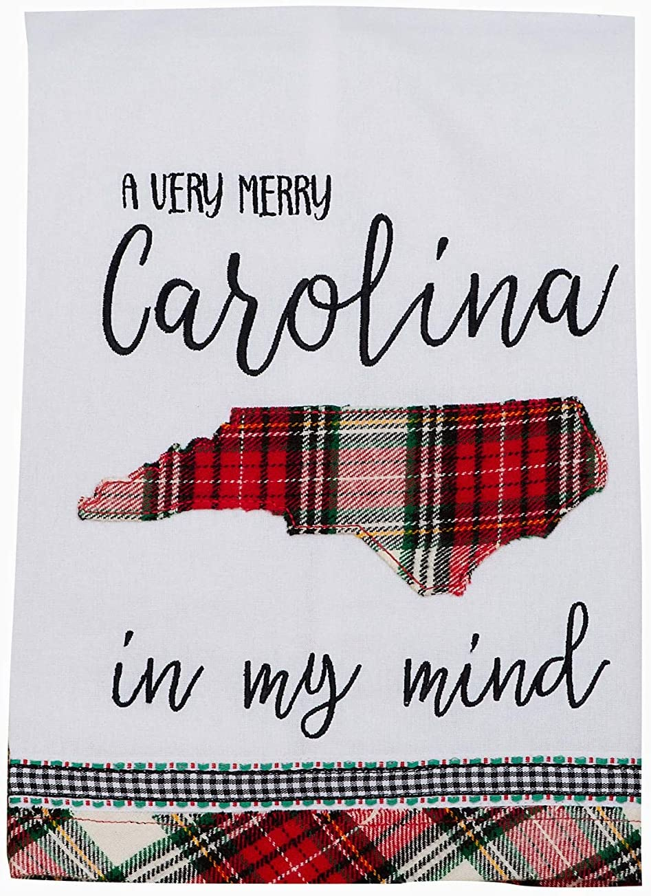 Glory Haus Home Multicolor, Collegiate Tea Towel 19x25x0.1 inch. (Carolina in My Mind)