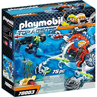 PM Playmobil 70003 Spy Team Sub Bot Top Agents: Toys & Games