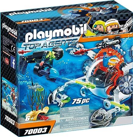 PLAYMOBIL Top Agents Spy Team Sub Bot, A partir de 6 años (70003)