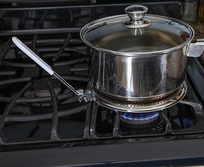 Difusor de calor para cocina de gas o eléctrico estufa, Flame Guard hervir a fuego lento placa – by Home-x