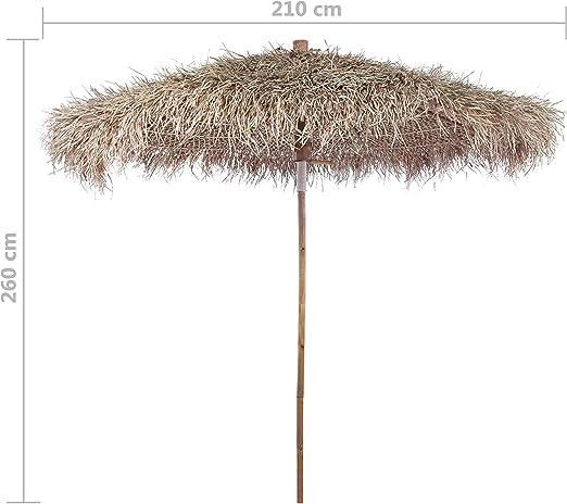 Come Costruire Un Ombrellone Di Paglia.Vidaxl Ombrellone Da Giardino 210 Cm In Bambu Con Foglie Di Banano Parasole Amazon It Casa E Cucina
