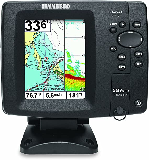 Humminbird 587cxi hd combo colour fishfinder/plotter c/w dual beam transducer & int gps antenna: Amazon.es: Deportes y aire libre