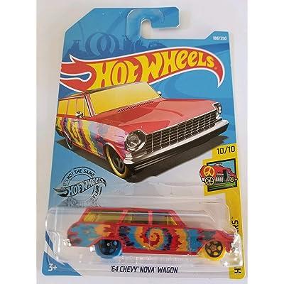 Hot Wheels 2020 Hw Art Cars '64 Chevy Nova Wagon, 188/250 Red: Toys & Games