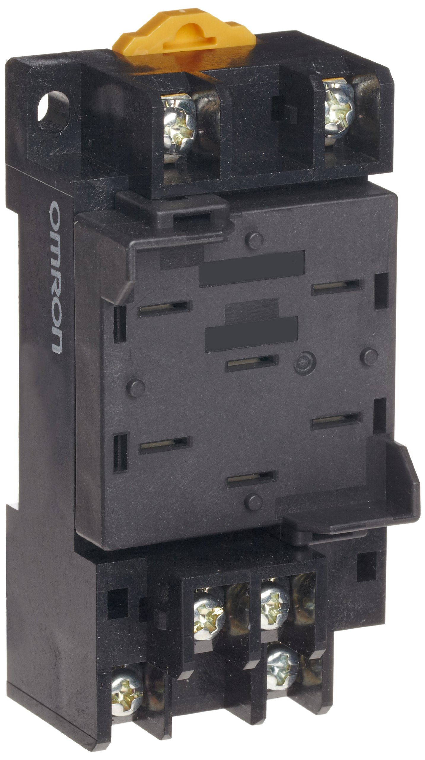 Omron P7MF-06-D General Purpose Socket, Diode Type, Screw Terminal, DIN Rail/Panel Mounting, For Use With MKS-X Series Relays