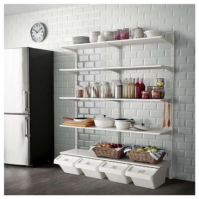 IKEA Algot - pared vertical/estantes/gancho blanco: Amazon ...
