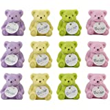 PARTEET Teddy Erasers With Sharpener For Kids (Pack of 12)