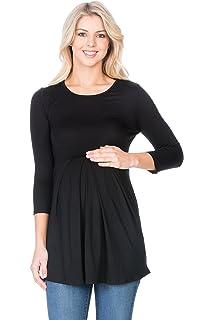 873b40b94e9 Hello MIZ Women's Maternity Nursing Tunic Top with Empire Waist at ...