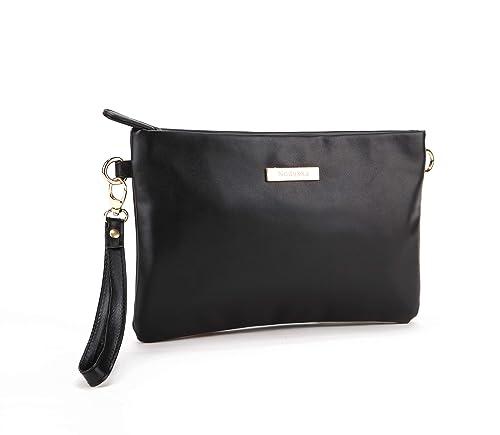 0edf98f5ef14 Nodykka Purses and Handbags Crossbody Bags for Women Minimalist Small Purse  PU Leather Wristlet Clutch Shoulder Bag