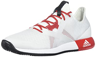 new styles 35c55 a1ff3 adidas Womens Adizero Defiant Bounce w Tennis Shoe, WhiteScarletcore  Black,