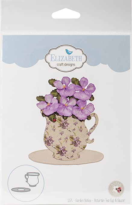 Amazon Com Elizabeth Craft Designs 1375 Metal Die Victorian Tea Cup