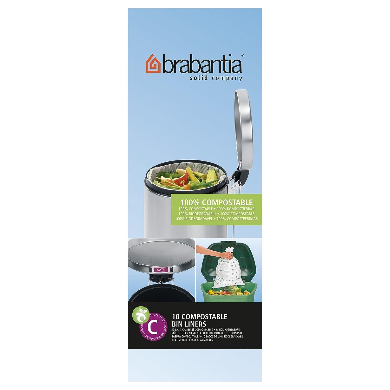 Brabantia - Bolsas de basura biodegradables, 10 - 12 l ...