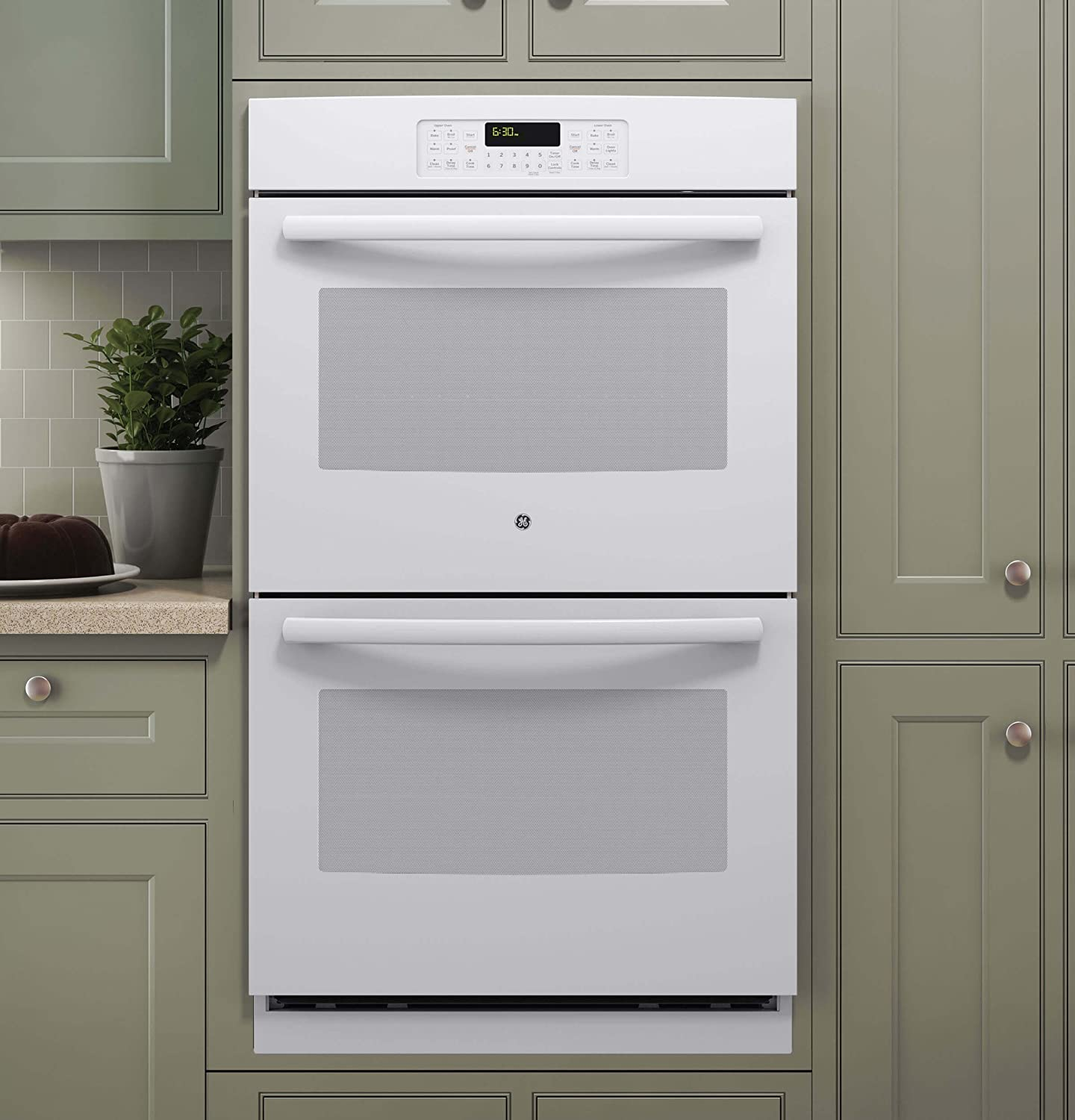 GE JT3500DFWW 30' White Electric Double Wall Oven