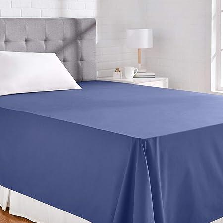 AmazonBasics Everyday - Sábana encimera (100% algodón), 230 x 260 cm - Azul marino: Amazon.es: Hogar