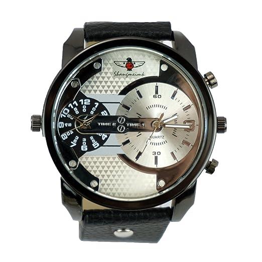 Reloj de cuarzo para hombre, moderno, estilo militar, para deportes al aire libre: Amazon.es: Relojes