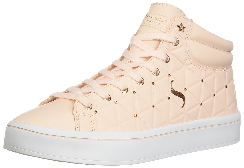 Skechers Women's Hi-Lite-Triangle De-Boss Sneaker B0741RDDMH 9 B(M) US|Light Pink