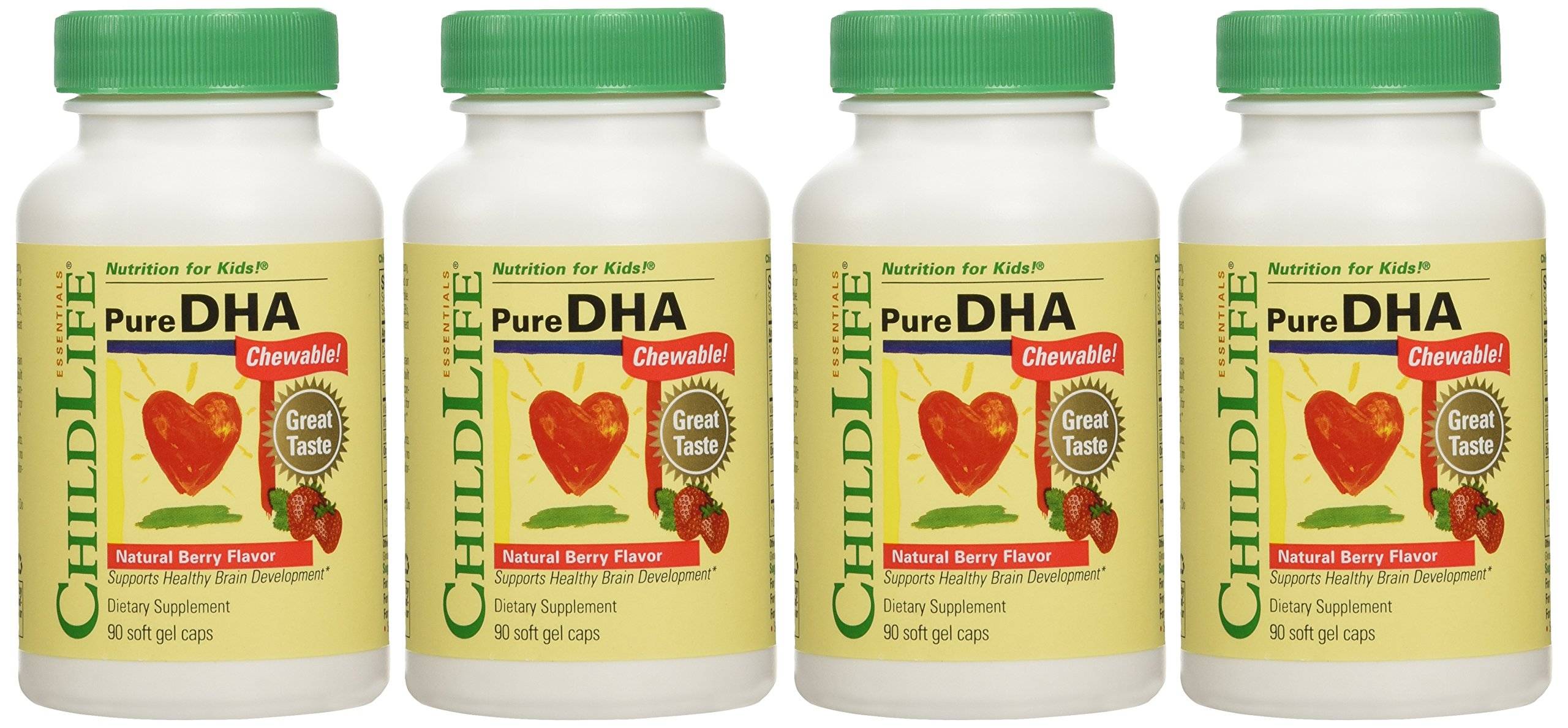 Child Life - Pure DHA Soft Gel Capsules - 4 Pack of 90Count Bottles