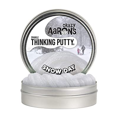 Crazy Aaron's Thinking Putty Sparkle Snowday - Winter Themed Glitter Putty - Non-Toxic, Never Dries Out: Home & Kitchen
