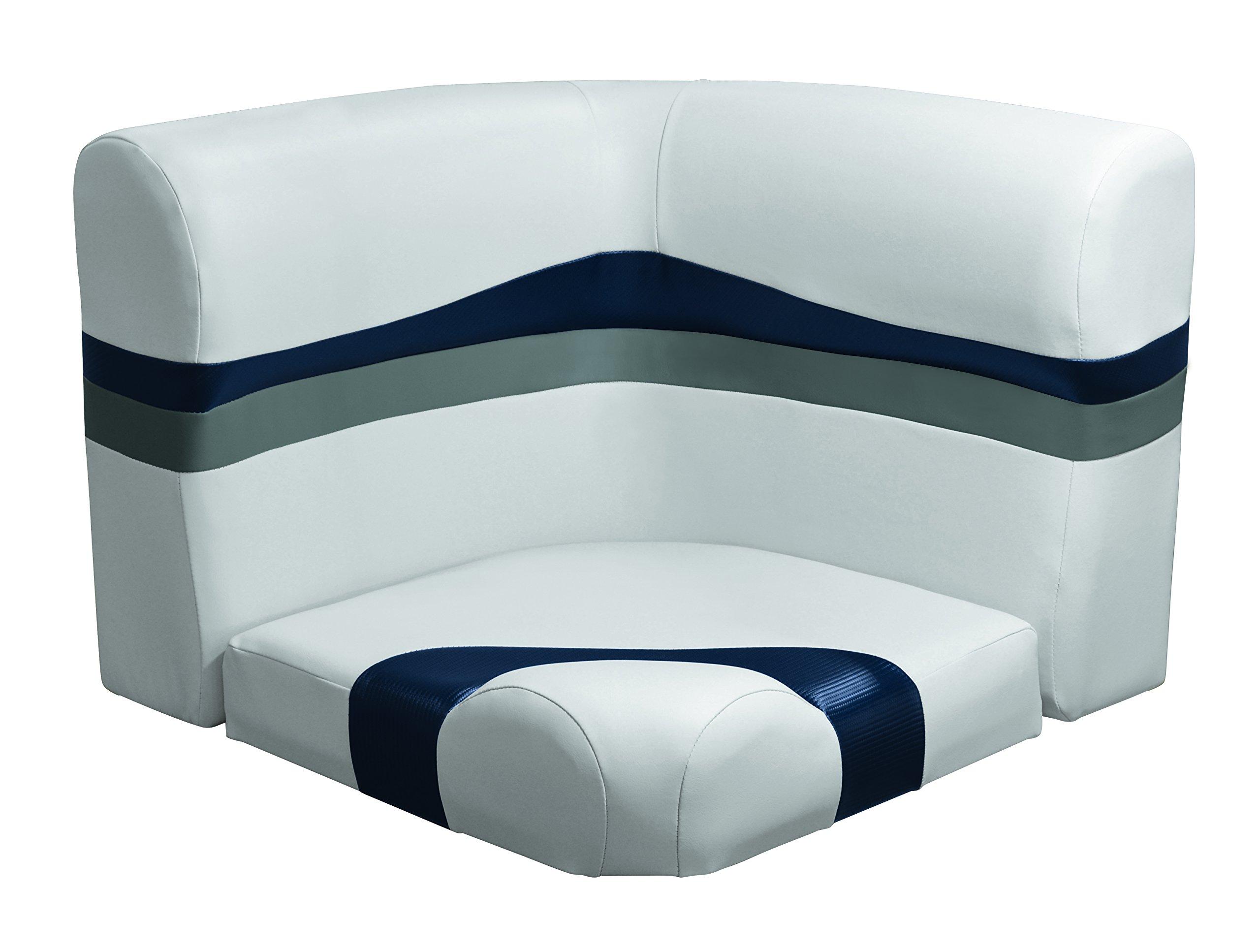 Wise 3004-2-1801 Talon 25'' Radius Corner Back & Bottom Cushion Set Only, Sky Grey-Dove Grey-Laguna Blue Carbon Fiber by Wise