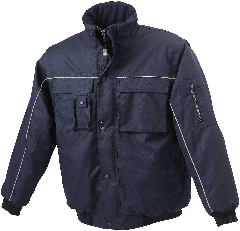 James & Nicholson, Herren, Workwear Jacket mit abnehmbaren Ärmeln