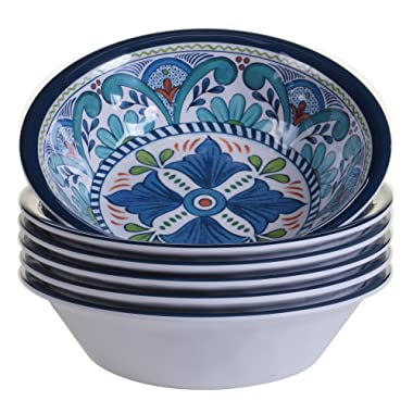 Certified International Talavera All Purpose 7.5  x 2  Bowl (Set of 6), Multicolor