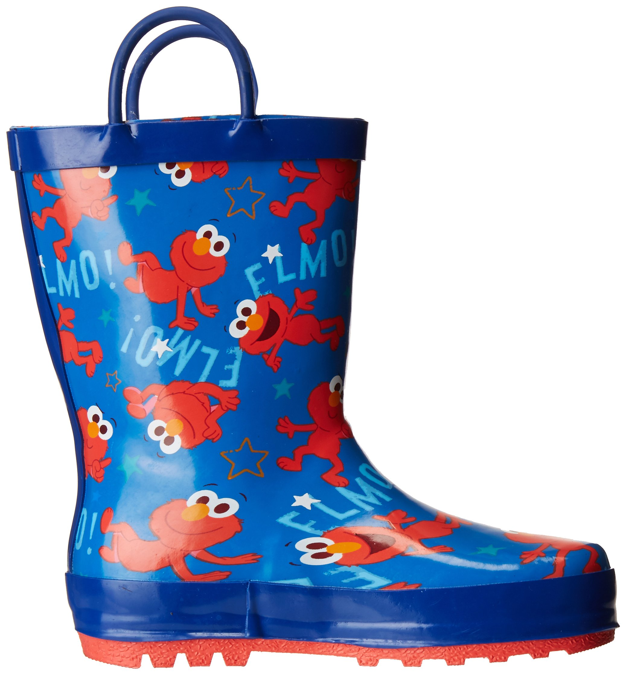 Sesame Street Boys' Kid's Character Licensed Rain Boot, Blue, Dual Shoe Size 7/8 Child US Toddler by Sesame Street (Image #7)
