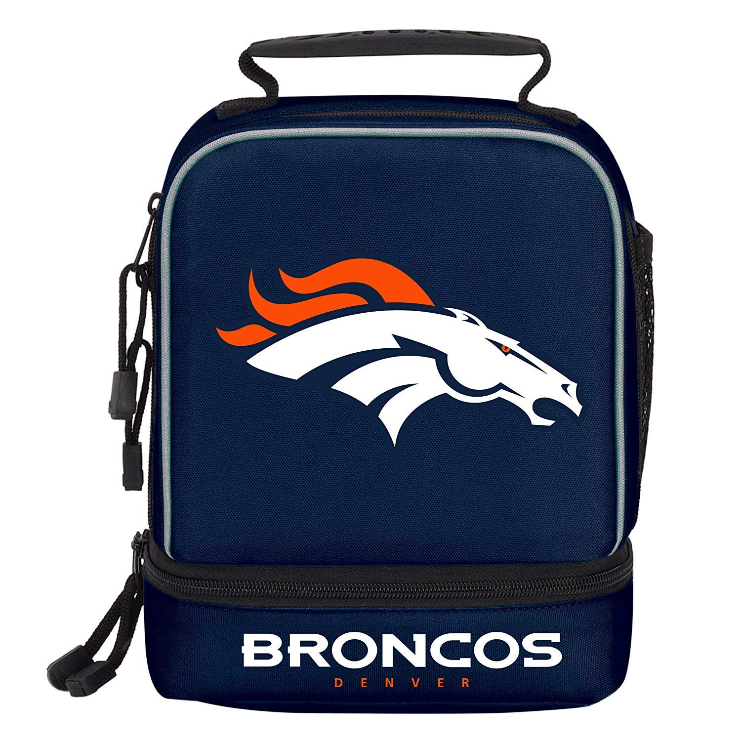 SLW Denver Broncos Insulated Lunch Bag with Zipper and Three Compartments