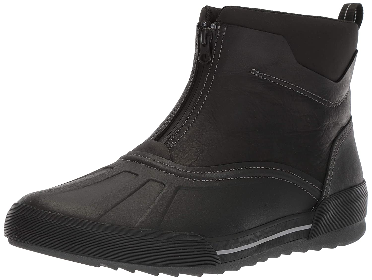 Black Leather Clarks Men's Bowman Top Ankle Boot