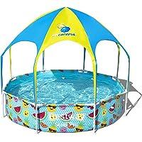 Bestway 56432 - Piscina Desmontable Tubular Infantil Splash-In-Shade con Parasol 244x51 cm