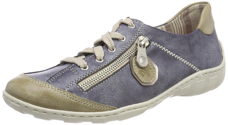 Rieker M3724, Zapatillas para Mujer 40 EU Azul (Marble/Jeans/Altsilber)