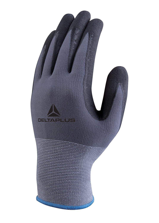 Delta PlusDELVE727NOGants avec revêtement en nitrile PA/SP, gant gris/noir
