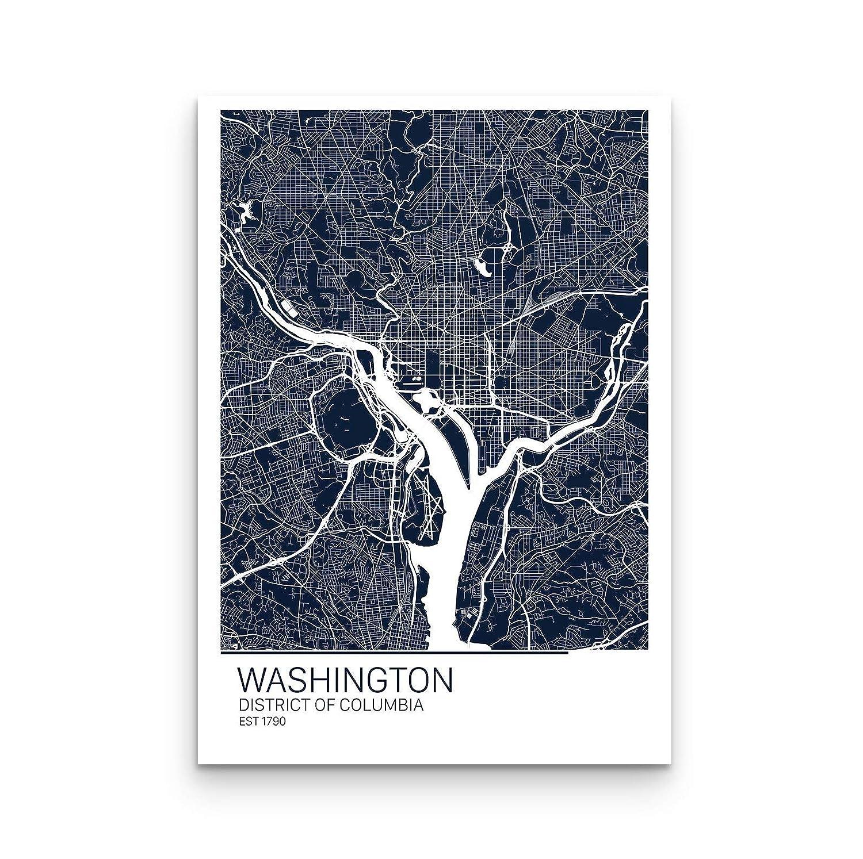 Amazon.com: Washington D.C. Print, Washington DC Map Art ... on map of dc highways, map of dc transit, map of dc airport locations,
