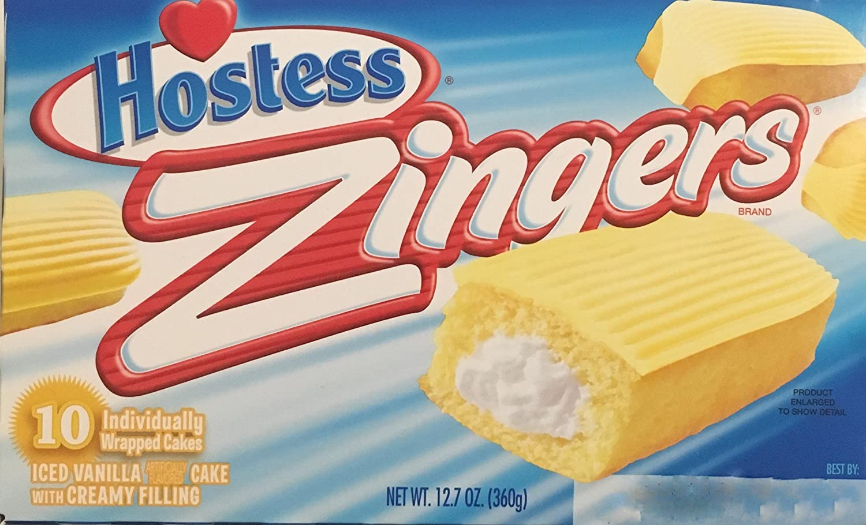 12.7oz Hostess Zingers Iced Vanilla Cake, 10 Piece (Pack of 2)