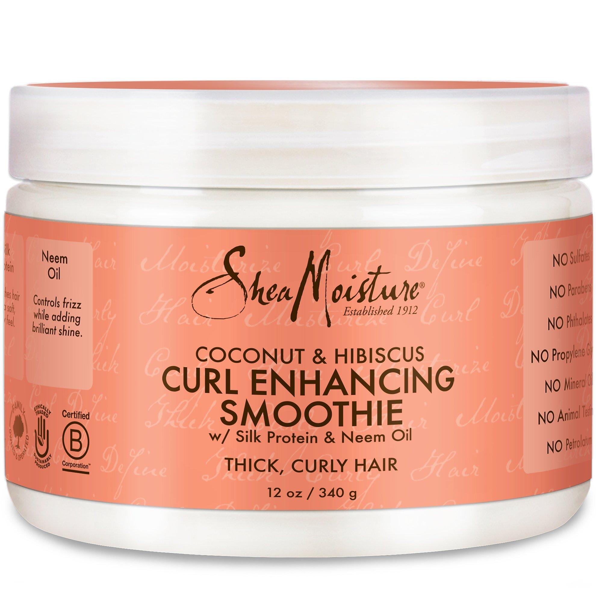 Shea Moisture Coconut Hibiscus Curl Enhancing Smoothie-12 oz by SHEA MOISTURE
