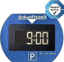 CR 2450 Knopfzelle inkl. Needit PARK LITE 1411 Vollautomatische Parkscheibe blau