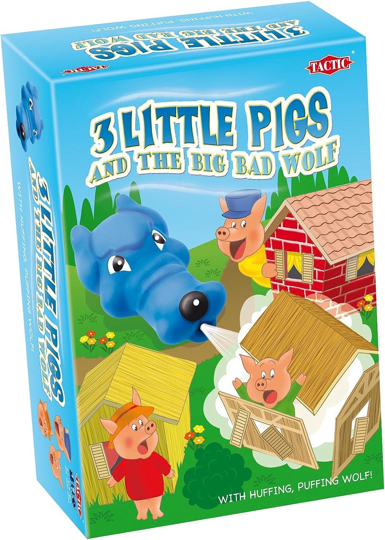 Peppa Pig Tactic 01222 - Juego de mesa de los 3 cerditos y el lobo ...