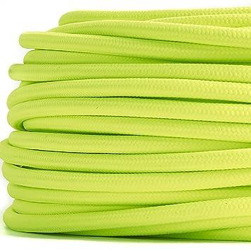Textilkabel Meterware Stoffkabel Stern Gelb Weis 2 adrig 2 x 0,75 mm² rund