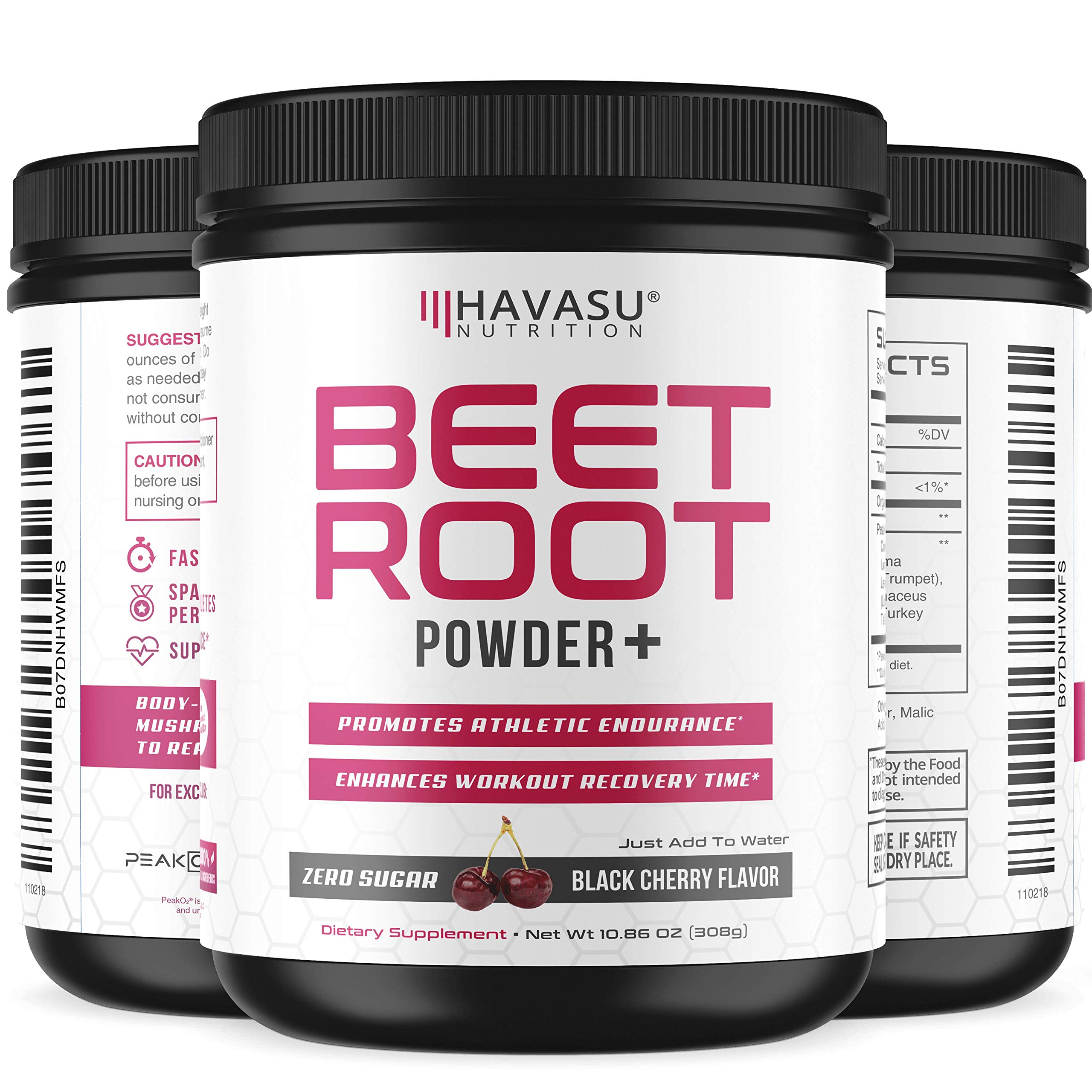 Beet Root Powder with Patented, Organic PeakO2 & Mushroom Blend - Supports Fast Workout Recovery & Promotes Athletic Endurance; No Sugar, Non-GMO by Havasu Nutrition (Image #4)