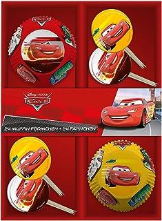 P: os 25689–24Pirottini con 24Bandierine Disney Pixar Cars, in confezione regalo p:os handels Gmbh
