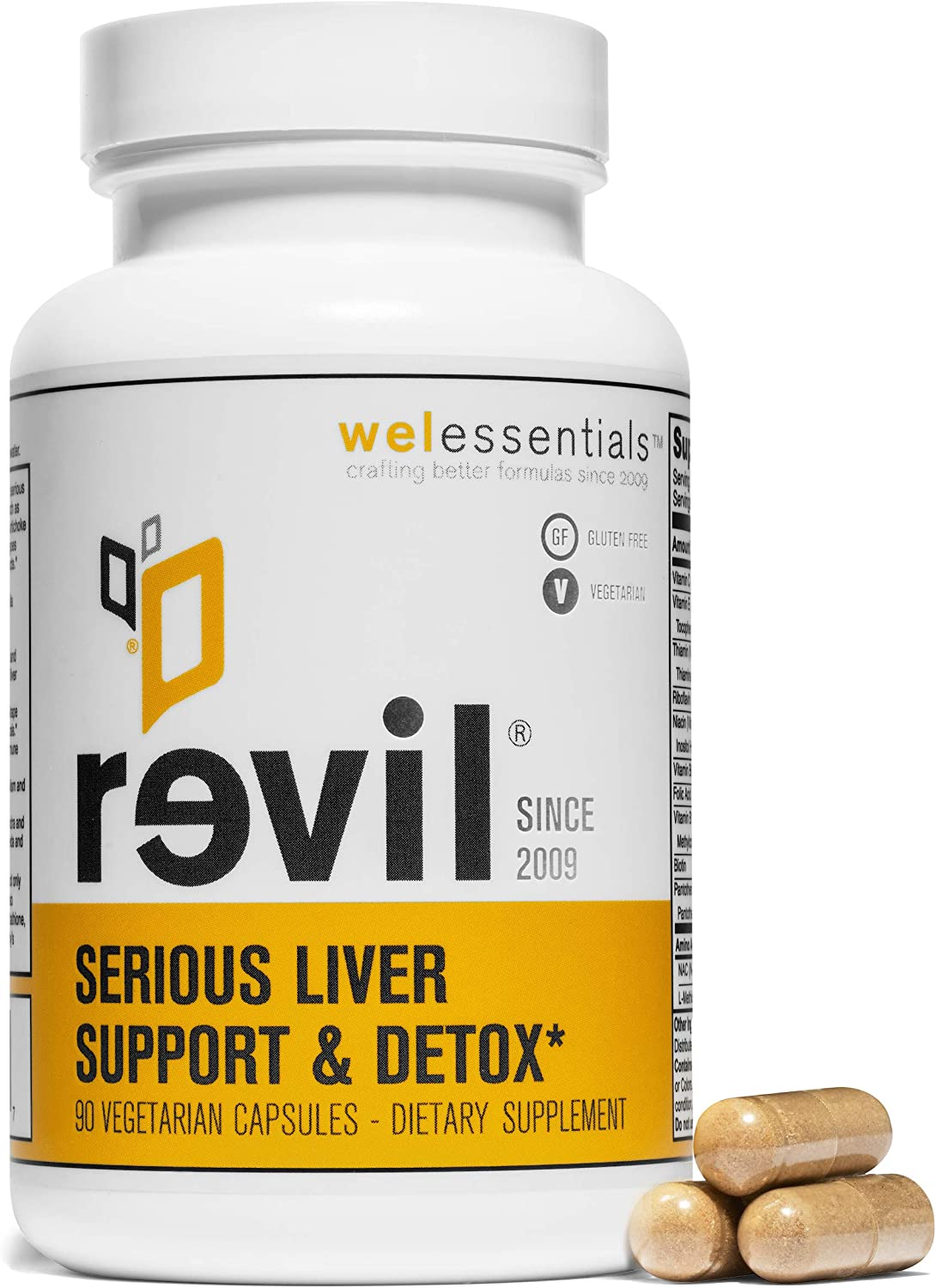 Revil Serious Liver Support Detox by WEL Essentials 90 Capsules
