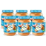 Naturnes Bio Zoete Aardappel, Pompoen, Zalm 6+ Maanden Babymaaltijd, 6 Potjes van 190 Gram