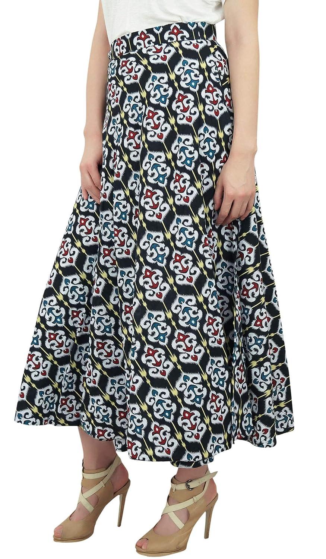 Phagun Vestido Boho Chic Reversible Ikat Impreso Algodón Negro Falda del Abrigo de Las Mujeres: Amazon.es: Ropa y accesorios