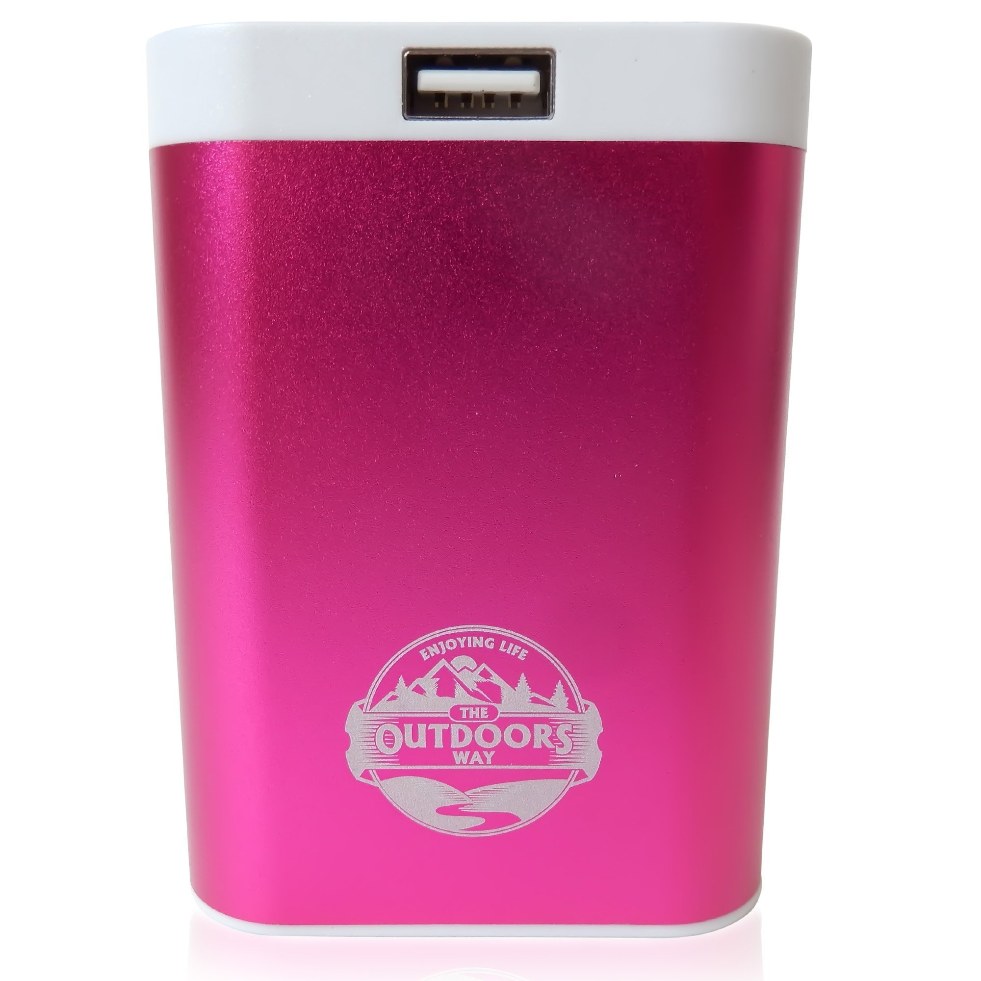 The Outdoors Way Electric Hand Warmer, Rechargeable Accessory for Hunting and Winter Sports. Handwarmer Includes Phone Charger + LED Flashlight + Carry Pouch + 2 Colors Options. by The Outdoors Way