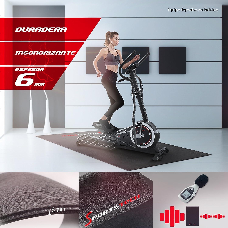 Sportstech, Alfombra Fitness 4-6mm para máquina de Ejercicios o Bicicleta.Estera Gimnasio,Esterilla Antideslizante y Resistente al Sudor para ...