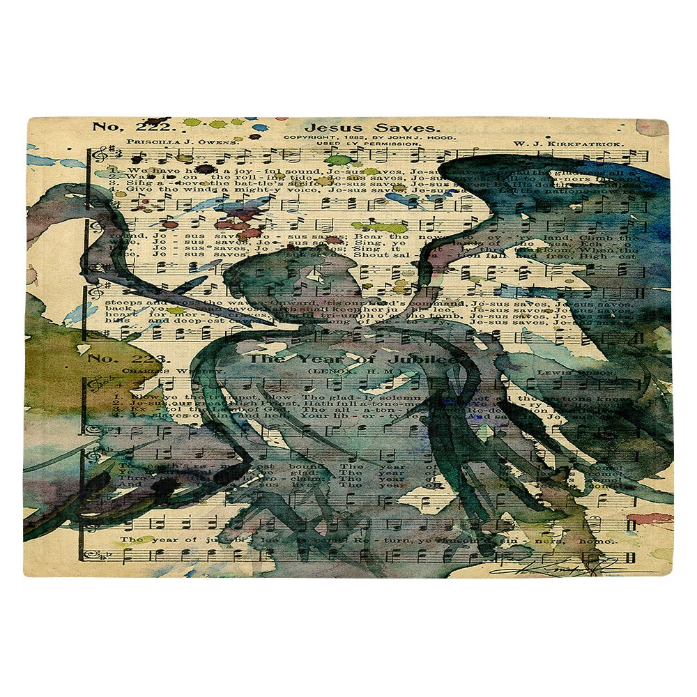 DIANOCHEキッチンPlaceマットby Artist Kathy Stanion – Calling All Angels XLIX Set of 4 Placemats PM-KathyStanionCallingAllAngelsXLIX2 Set of 4 Placemats  B01N8OOB7U