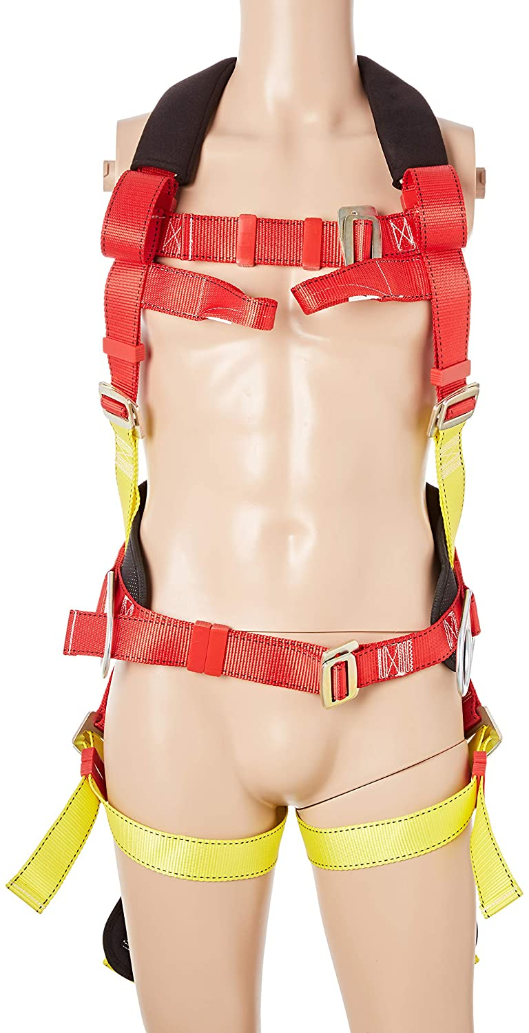 Portwest FP18RER 3 Point Harness, Comfort Plus, Regular, Red/Yellow Portwest Clothing Ltd