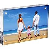 NUIBEE Cadre Photo Acrylique Cadre à Poser Transparent Portrait Plexiglass Tableau avec Fermeture Magnétique (20.3x30.6x2.8)cm