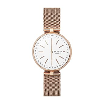 03040547916 Skagen Women s Signatur T-Bar Quartz Watch with Stainless-Steel Strap