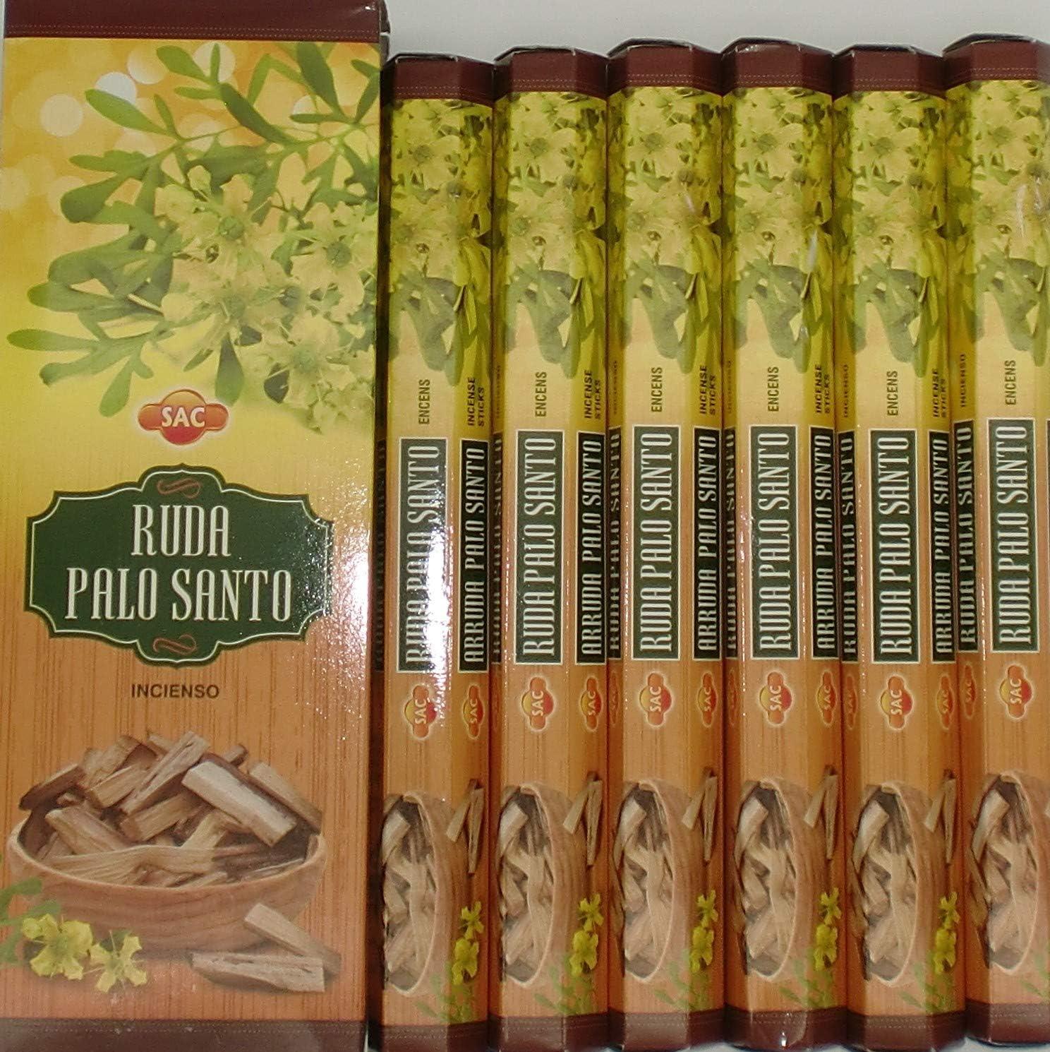 Incienso Ruda Palo Santo 6 paquetes x 20 varillas